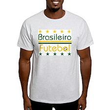 Brazilian Futebol Ash Grey T-Shirt