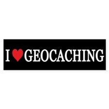 I Love Geocaching Bumper Bumper Sticker