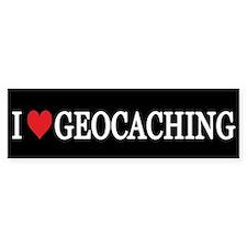 I Love Geocaching Bumper Bumper Sticker