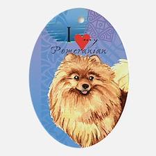 Pomeranian Oval Ornament