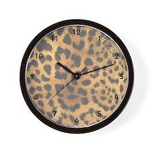 Leopard Print Animal Wall Clock