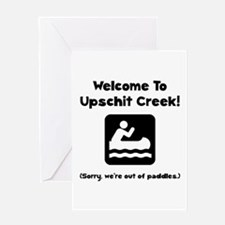 Upschit Creek Greeting Card