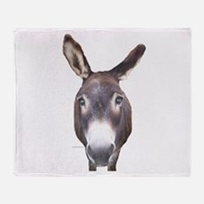 Donkey In Your Face Throw Blanket