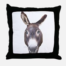 Donkey In Your Face Throw Pillow