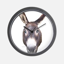 Donkey In Your Face Wall Clock