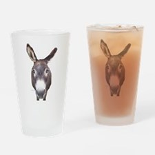 Donkey In Your Face Drinking Glass