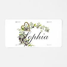 sophia Aluminum License Plate