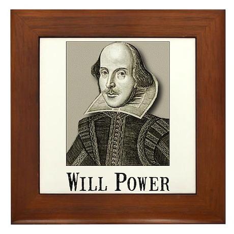 Will Power Framed Tile