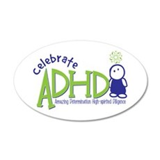 Celebrate ADHD 22x14 Oval Wall Peel