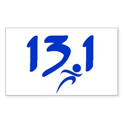 Blue 13.1 half-marathon Decal