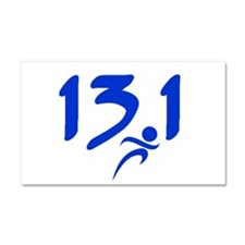 Blue 13.1 half-marathon Car Magnet 20 x 12