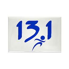 Blue 13.1 half-marathon Rectangle Magnet