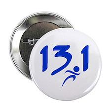 """Blue 13.1 half-marathon 2.25"""" Button (10 pack)"""