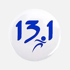 """Blue 13.1 half-marathon 3.5"""" Button (100 pack)"""