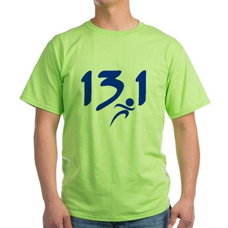 Blue 13.1 half-marathon Green T-Shirt