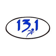 Blue 13.1 half-marathon Patches