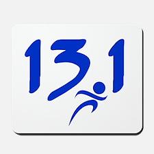 Blue 13.1 half-marathon Mousepad
