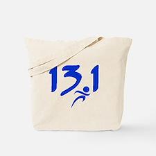 Blue 13.1 half-marathon Tote Bag