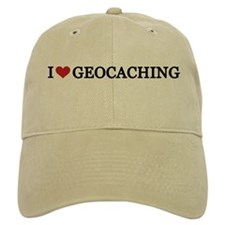 I Love Geocaching Baseball Cap