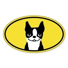 Boston Terrier Smile Decal