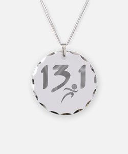 Silver 13.1 half-marathon Necklace