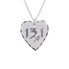 Silver 13.1 half-marathon Necklace