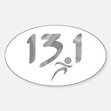 Silver 13.1 half-marathon Decal