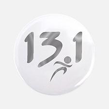 """Silver 13.1 half-marathon 3.5"""" Button (100 pack)"""