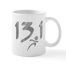 Silver 13.1 half-marathon Mug