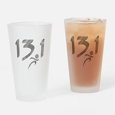 Silver 13.1 half-marathon Drinking Glass