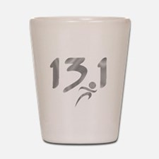 Silver 13.1 half-marathon Shot Glass