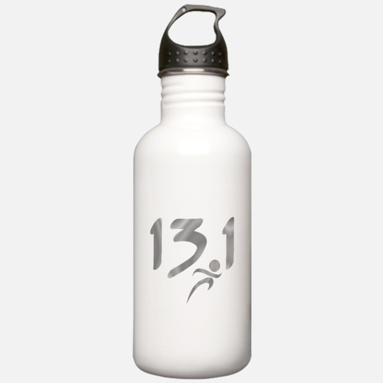 Silver 13.1 half-marathon Water Bottle