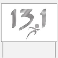 Silver 13.1 half-marathon Yard Sign