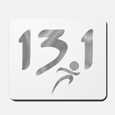 Silver 13.1 half-marathon Mousepad