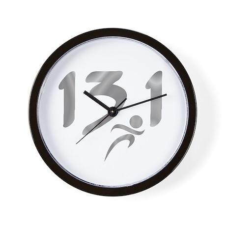 Silver 13.1 half-marathon Wall Clock