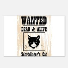 Wanted Schrodingers Cat Postcards (Package of 8)