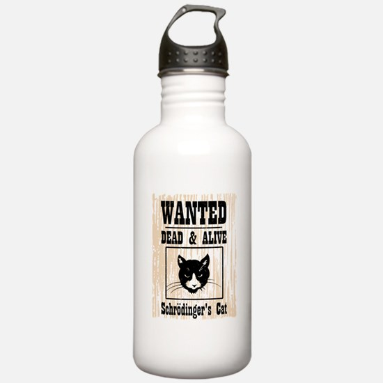 Wanted Schrodingers Cat Sports Water Bottle