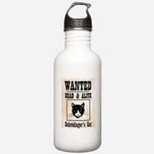 Wanted Schrodingers Cat Water Bottle