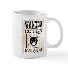 Wanted Schrodingers Cat Small Mug