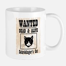Wanted Schrodingers Cat Small Small Mug