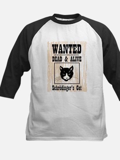 Wanted Schrodingers Cat Kids Baseball Jersey