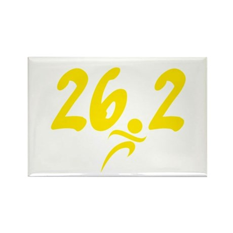 Yellow 26.2 marathon Rectangle Magnet (10 pack)
