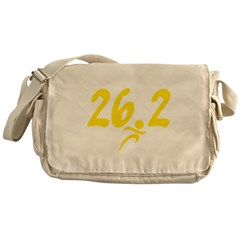 Yellow 26.2 marathon Messenger Bag