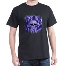 Skull in Flames (blue) , T-Shirt
