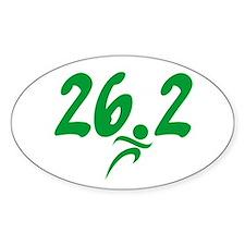 Green 26.2 Marathon Decal