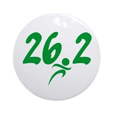 Green 26.2 Marathon Ornament (Round)