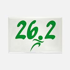 Green 26.2 Marathon Rectangle Magnet