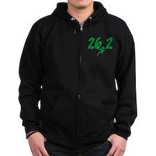 Green 26.2 Marathon Zip Hoodie
