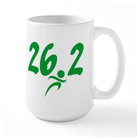 Green 26.2 Marathon Large Mug