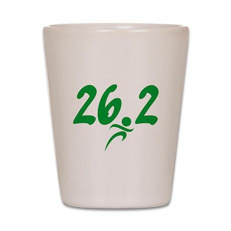 Green 26.2 Marathon Shot Glass
